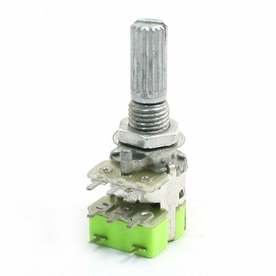 B50K 50K Ohm Dual Linear Taper Volume Control Potentiometer Switch F6