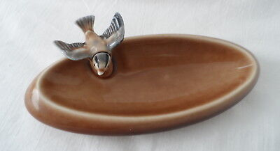 (aa) VINTAGE PORCELAIN WADE PIN DISH WITH SWALLOW 1958 - 1961