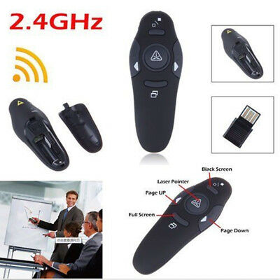 2.4GHz Wireless Professional Presenter Red Laser Pointer w/ Wireless Receiver CA