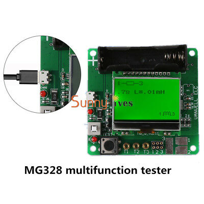 Newest 3.7V Inductor-capacitor ESR meter DIY MG328 multifunction tester