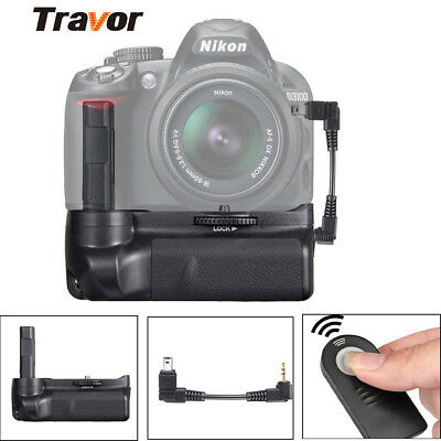 For Nikon D3100 D3200 D3300 Camera Vertical Battery Grip with IR Remote Control