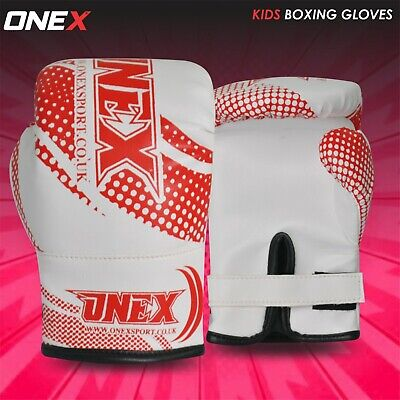 3xSports Boxing Gloves Kids Junior Youth Sparring Training Punch Bag Glove 4oz