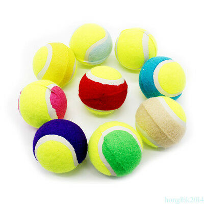 Squeaky Balls Tennis Ideale Toy Dog Pet Safe Game Palle Elastiche Colore Casuale