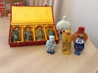 Collection Of 9 Very Interesting Chinese Snuff Bottles
