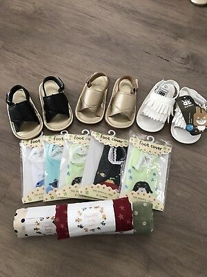 Brand New Baby Shoes, Socks And Scarves