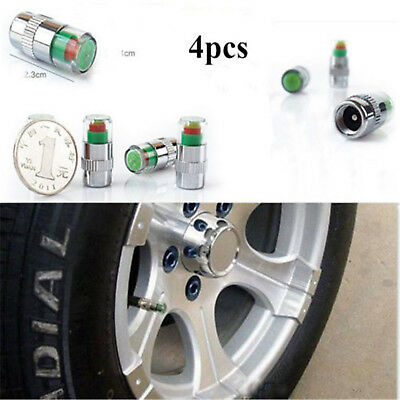 4PCS Car Auto Tire Pressure Monitor Valve Stem Caps Sensor Indicator Alert POP