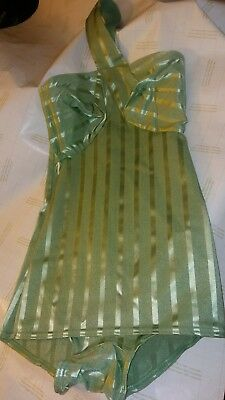 """Rare Vintage SEXY green1950's PinUp Swimsuit """"Sea Nymph"""" Bathing Suit Swimwear"""