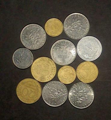 Good selection of coins from France (50g)