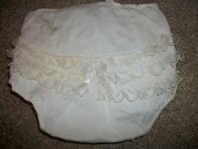 Vtg. Baby Diaper Rubber Vinyl Plastic Pants Nylon Cover Lace Bow Ruffles AS IS