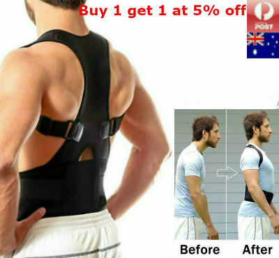 Lumbar & Lower Back Support Belt Brace Strap Posture Waist Trimmer Pain Relief