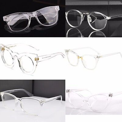 Clear Transparent Frame Clear Lens Fashion Glasses