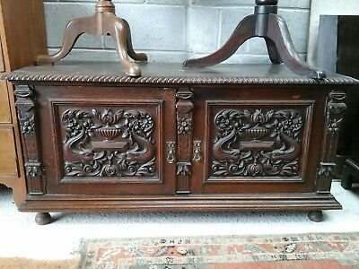 Low Carved Cupboard