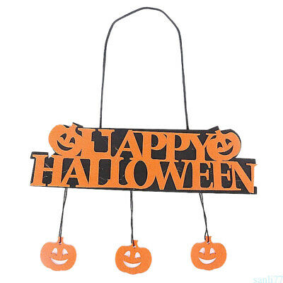Halloween Pumpkin Decoration Happy Halloween Hanging Hang Tag Window Decor TXP