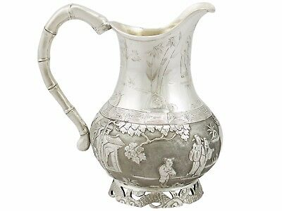 Antique Chinese Export Silver Cream Jug by Wang Hing Circa 1900