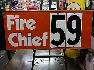 Vintage Fire Chief Gas Sign