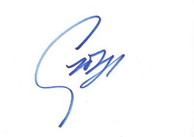 """GEORGE MICHAEL 6""""x4"""" Hand Signed Card together with 8x10 colour photo"""