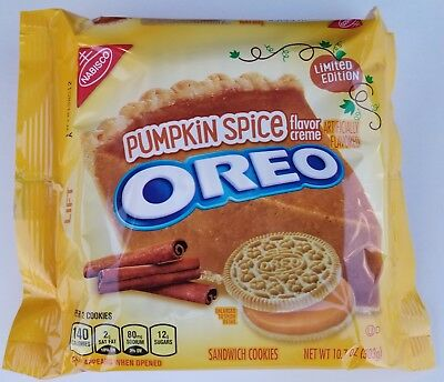 NEW Nabisco Oreo Pumpkin Spice Limited Edition Cookies FREE WORLDWIDE SHIPPING