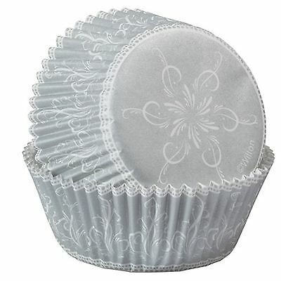 Wilton SPARKLE & CHEER Christmas Silver Cupcake Baking Cups - 75 pack