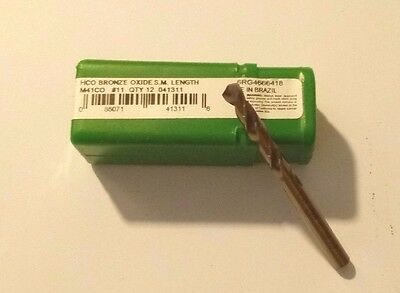 **NEW** Dormer/ Precision Twist N11 HCO Bronze Oxide #11 Drill Bit M41CO