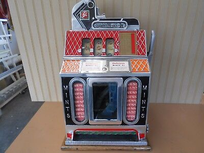 Mills Antique Slot Machine-Mint Vending Slot Machine -1920-1930