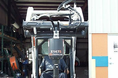 Skid Steer Auger McMillen X1475 All Gear Drive,For Smaller Loaders, Hex Drive