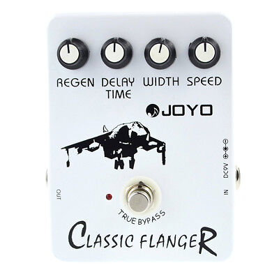 Joyo JF-07 Classic Flanger Guitar Effect Pedal with BBD simulation circuit F6