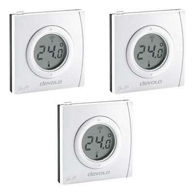Devolo Home Control Raumthermostat 3er Set Smart Home Z-Wave Hausautomation