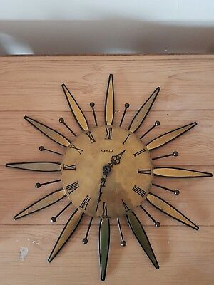 Kienzle Brass Sunburst Wall Clock