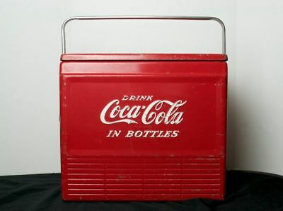 Vintage 1960's Coca-Cola Cooler Antique Coke Refrigerator Soda Authentic Retro