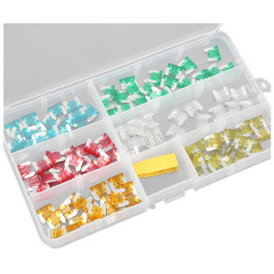 10x(120 pcs Low Profile Mini Size Blade Fuse Assortment Set Auto Car Truck P0H3