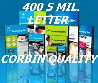 Ultra Clear (400) Letter Thermal Laminating Laminator Pouches 9 x 11-1/2  5 Mil