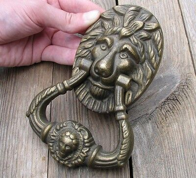 Vintage Reclaimed Solid Brass Lion Door Knocker