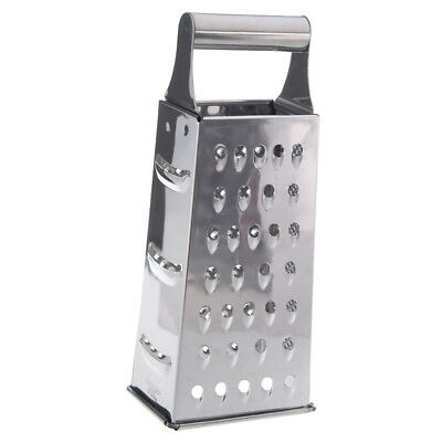 Stainless Steel 4 Sided Box Grater (Silver) F6
