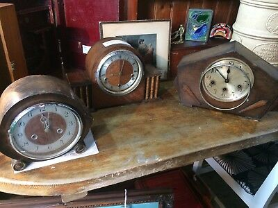 Three Early Century Mantle Clocks For Restoration