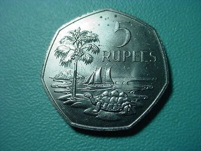 Seychelles 1972 5-Rupees In Nice Uncirculated Condition