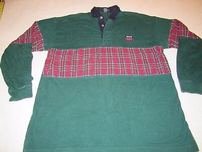 Mens Vintage Gant Rugger Rugby Polo Shirt Size Large Nice Shape