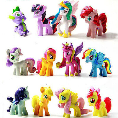 Varies 12Pcs My Little Pony Cake Topper PVC Action Figures Toy Doll Collectable