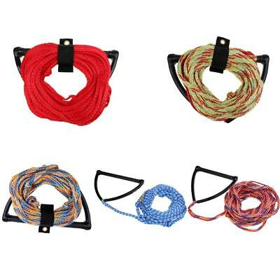 Heavy Duty 23m 1 Section Water Ski Wakeboard Rope & Handle and Rope Keeper
