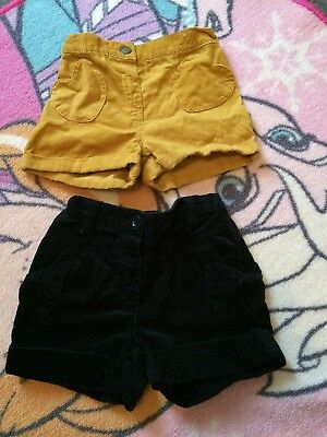 Girls Cord Winter Shorts Age 2-3 Next and Tu