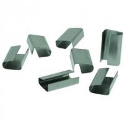 500 12mm Metal Clips Seals For Use With Plastic Banding Strapping Tools SO-12-25