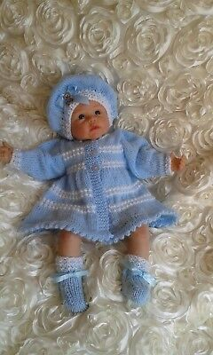 Reborn Doll / Baby Clothing / Hand Knitted   / Cardigan / Romper / Matinee Coat