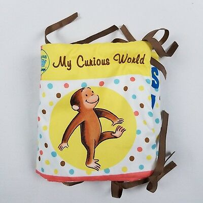 Curious Baby George Crib Bumper Pad Toy Book Soft Mirror Monkey C14