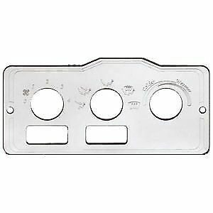 Peterbilt AC Heater Control Plate w Holes Left + Center