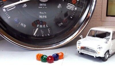 Austin Mini Cooper Jaeger Smiths Instrument Gauge Speedo Warning Jewel Set