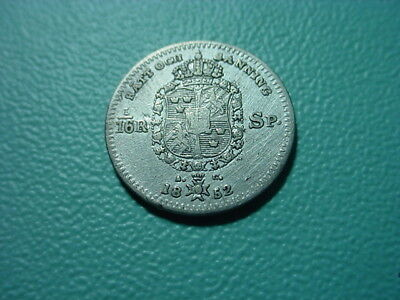 Sweden - Silver - 1852 1/16-Spice Daler In Very Nice Condition