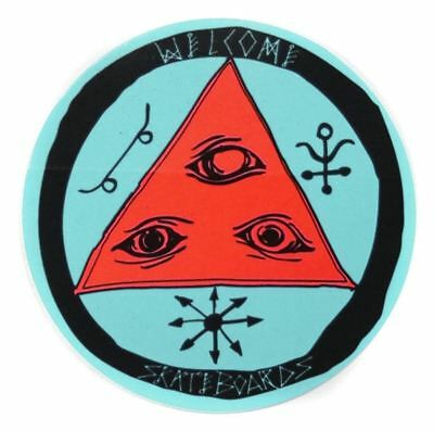 Welcome Skateboard Talisman Tri-Color Round Sticker - 8cm / 3""