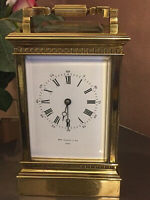 Fabulous Vintage Mid 1900 French 8 Day Solid Ornate Brass Carriage Clock G.W.O.