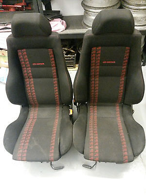VW GOLF MK3 VENTO GTI LIMITED EDITION RECARO RED BLACK FRONT SEATS ONLY (mk1 mk2