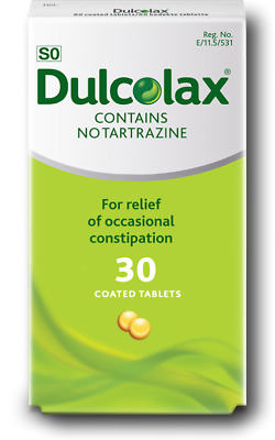 Dulcolax 5mg Gastro-Resistant Tablets - Bisacodyl - Constipation - 30 Tablets*
