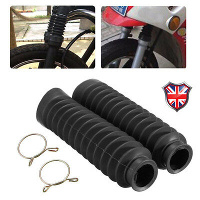 2PCS Universal Motorcycle Rubber Front Fork Cover Dust Gaiters Boots Gaitors